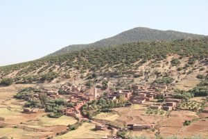 Paesaggio e villaggio marocchino