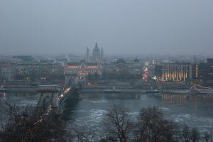 Danubio ghiacciato a Budapest