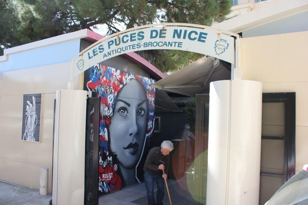 Street art a Nizza - Les Puces de Nice